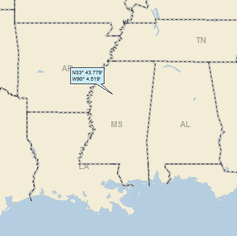 Money Mississippi Map Avalon and Money, Mississippi « A Landing a Day