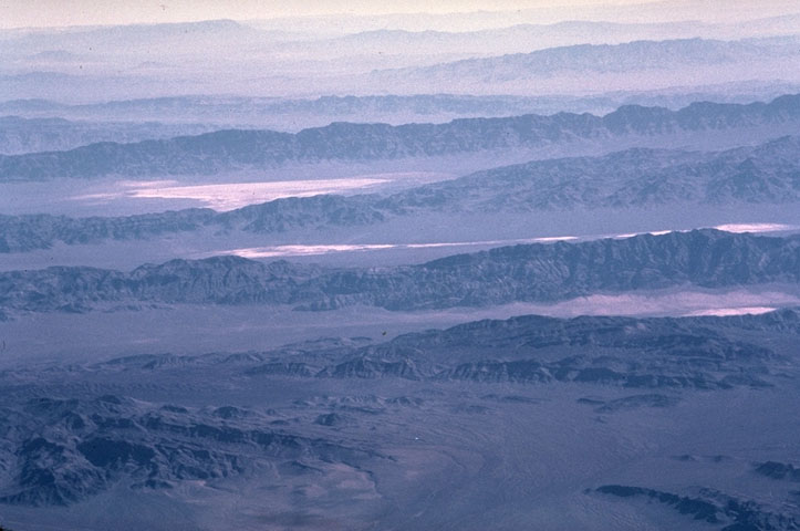 basin and range aerial photo