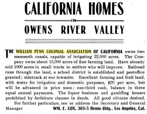 old william penn ad