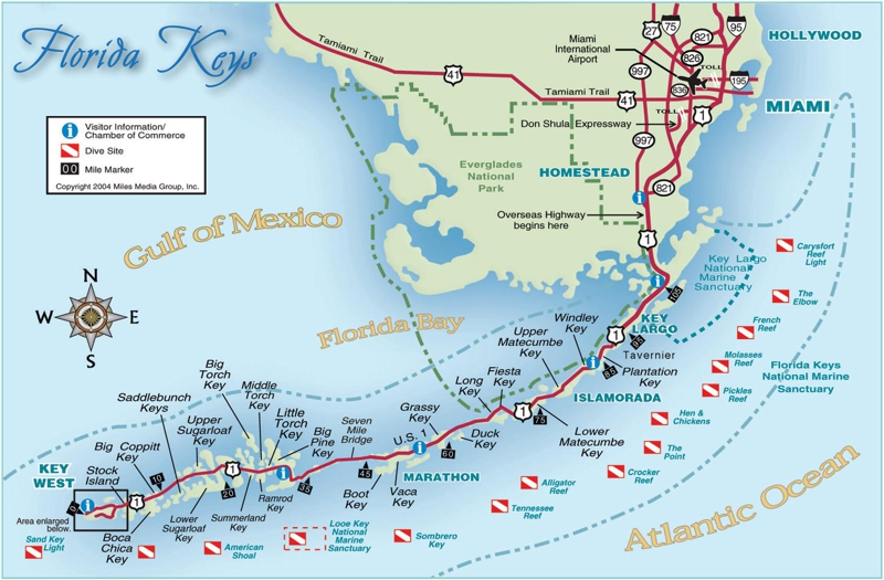 Map Of Florida And Florida Keys.Florida Keys Visitor Map Httplocalism Comimage Store A Landing A Day