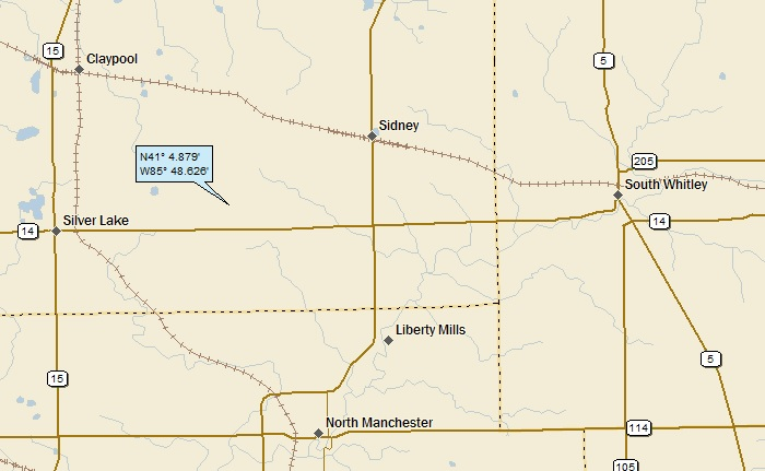 North Manchester Indiana Map.North Manchester Indiana A Landing A Day