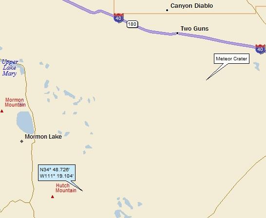 Meteor Crater Arizona Map.Mormon Lake Canyon Diablo And Meteor Crater Arizona A Landing A Day