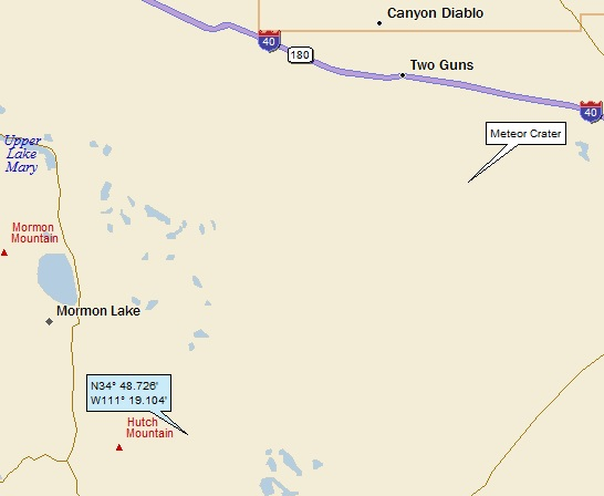 Meteor Crater Arizona Map.Mormon Lake Canyon Diablo And Meteor Crater Arizona A Landing A Day
